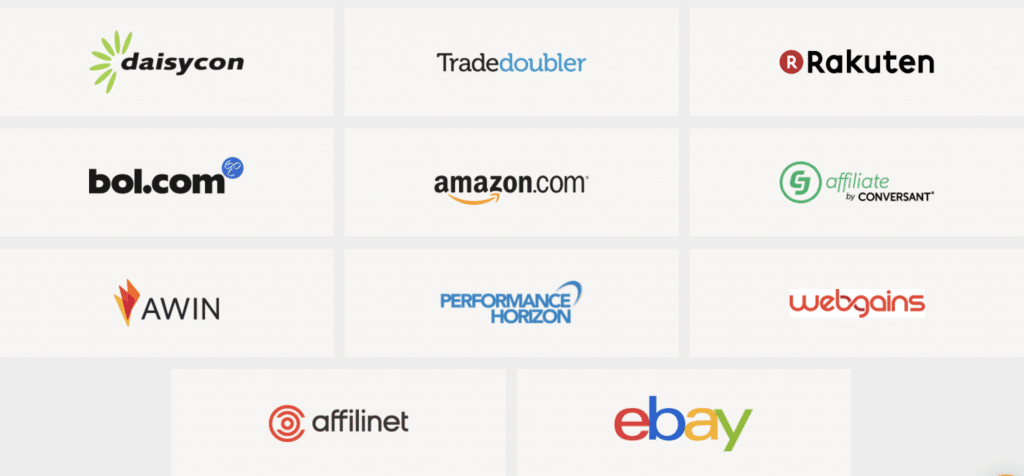 Overzicht affiliate netwerken LinkPizza