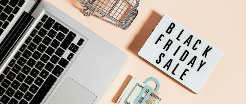 Black Friday sale background laptop