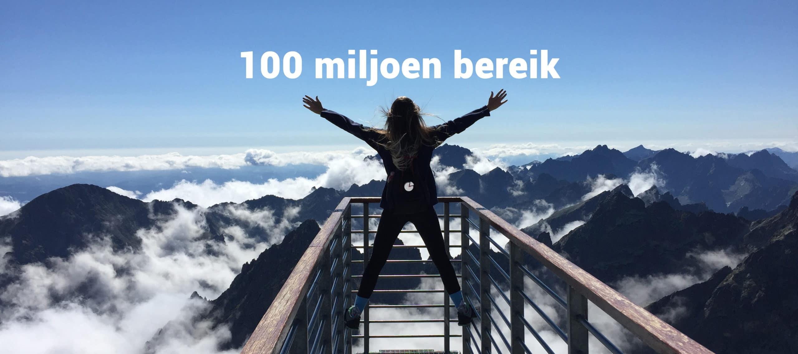 100 miljoen bereik banner