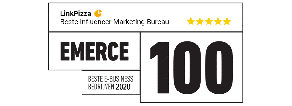 Emerce first place top 100 best influencer marketing agency