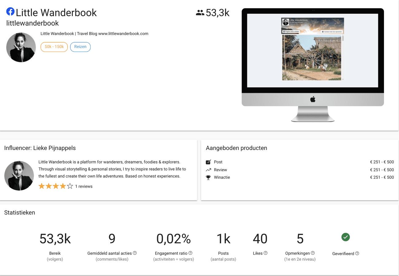 Visual Kwaliteit Facebook Influencer