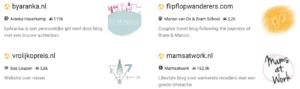 Overzicht van bloggers in LinkPizza