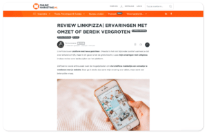 LinkPizza review online marketing