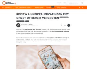 Review LinkPizza op onlinemarketing.nl