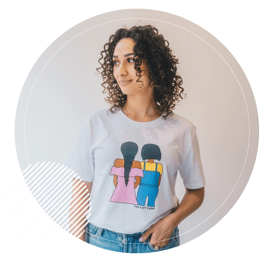 Free a girl influencer campagne