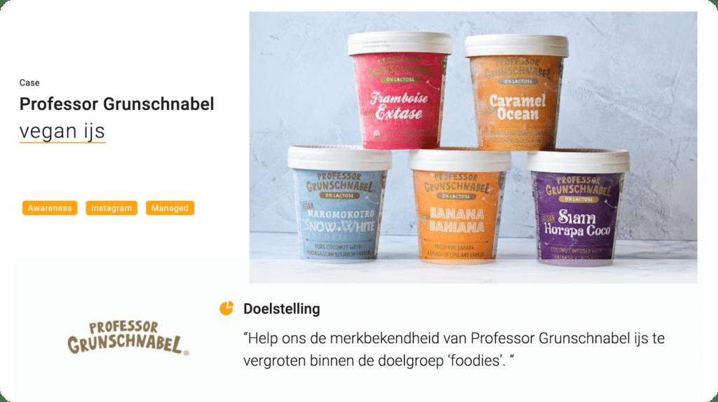 Professor Grunschnabel managed campagne